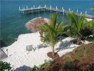 Elbow Cay and Hope Town estate photo - Private dock beyond beach.