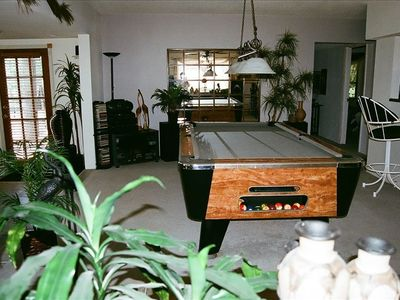 Large commercial style pool table.