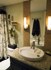 Old Town Scottsdale condo photo - Newly remodeled guest bathroom, granite counter.