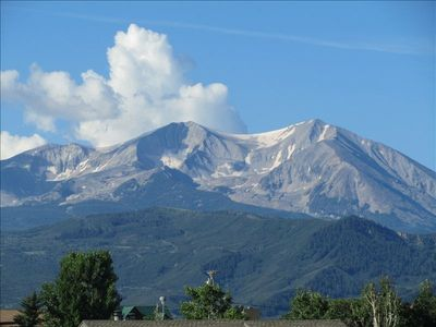 Stunning Mt. Sopris and 50 mile mountain views right out the front door