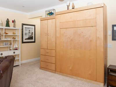 Queen Murphy Bed in Living Room
