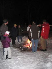 Bozeman house photo - bonfire at creek