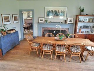 Edgartown house photo - Kitchen Eating Area Has 1 Of 5 Working Fireplaces In The Farmhouse