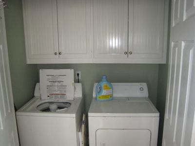 Washer and Dryer provided on site