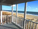 One of five porches overlooking miles of beach & preserved dunes! - Bethany Beach townhome vacation rental photo