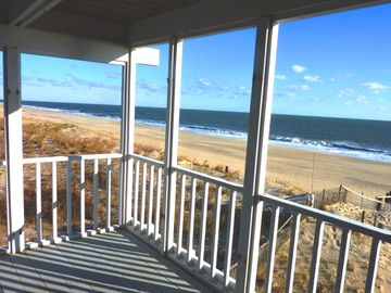 One of five porches overlooking miles of beach & preserved dunes!