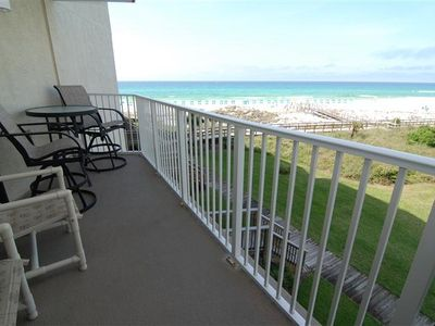 Beautiful Beach View from patio outside of Living Room and Master Bedroom.