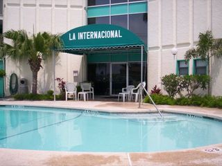 South Padre Island condo photo - private heated pool and hot tub.