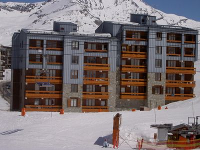 Tignes le Lavachet apartment rental - View of the apartment from the piste
