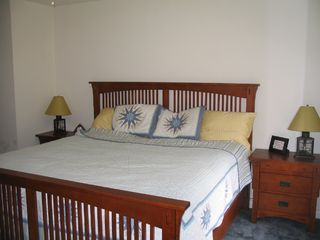 Brewster house photo - Master Bedroom with comfortable king size bed set up for two