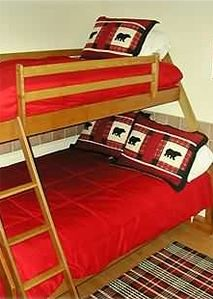 Bedroom 3--Sturdy Ash bunk beds with Twin and Double Beds