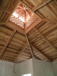 The Casita ceiling provides breezes and beauty as you nod off.