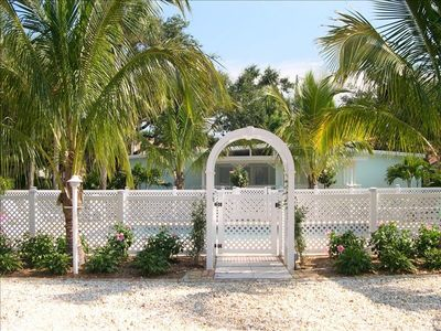 Entry gate for Pool at the Orchid Island Cottage