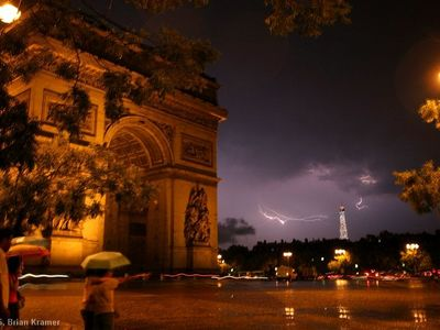 L'Arc de Triomphe is just a few blocks away. My husband, Brian, took this photo.