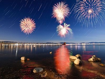 Fireworks over South Lake Tahoe