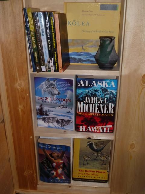 Bookshelf of awaiting adventures