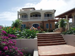 Vieques Island villa photo - Lush landscaping of Villa Sandcastle