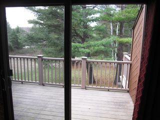 Burke condo photo - Private deck through sliding doors