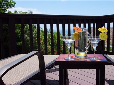 The only way to enjoy the cottage and ocean views!