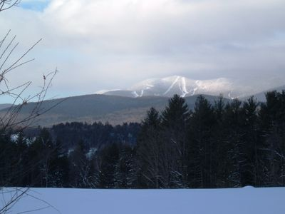 Photo taken down the road, this is Sugarbush North in the distance. Very close.
