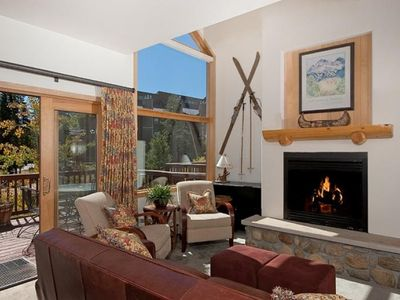 Enjoy the fireplace after a day of skiing!