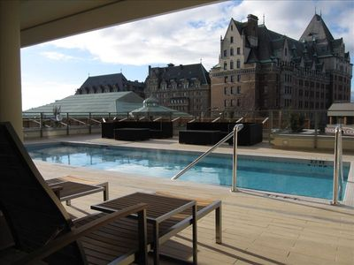 Swimming Pool / Hot Tub Overlooking the Empress Hotel!