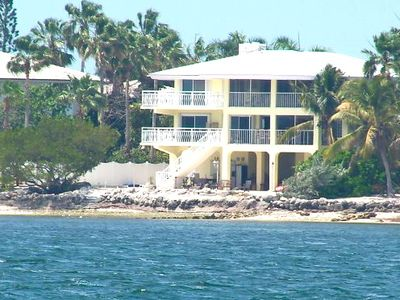 View of Home From Ocean. The home is newly painted Lime Green!