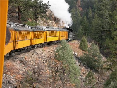 Our picture taken from the Durango & Silverton Narrow Gauge Railway.