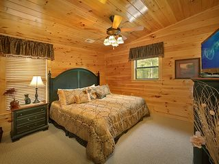 "Pigeon Forge cabin photo - Bedroom #3 Upstairs w/Private Bath & 32"" TV/DVD"