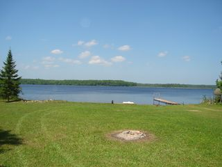 awesome view of the lake and nice level walk to the beach - Lyman Lake house vacation rental photo