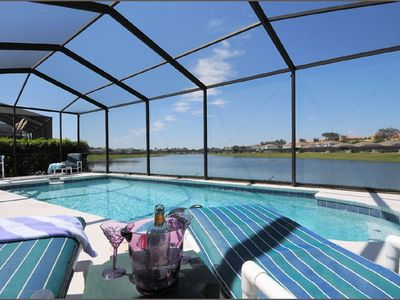 Sunset Lakes villa rental - 30ft pool with amazing lake views