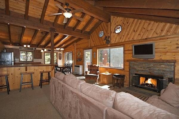 Luxury Cabin Woods Tahoe Hot Tub Vrbo