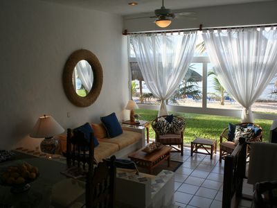 Akumal condo rental - Comfortable living area