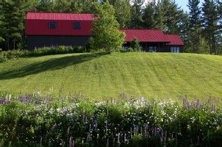 Littleton studio photo - Side view - The Barn Guest House on the left