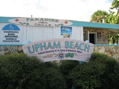 Upham Beach, Paradise Grill across street on the beach for breakfast and lunch