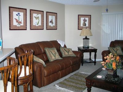 Professionally Decorated Living Area.  One of Many Beautiful Rooms