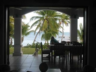 Ambergris Caye house photo - View from Kitchen of the Outdoor Dining Area