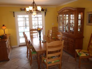Huntington Beach house photo - Formal dinning room looking out on sun room.
