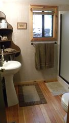 Sedona cabin photo - Bathroom (Shower is confining)