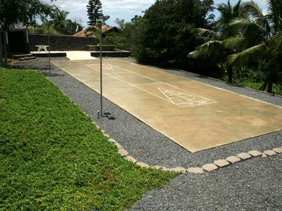 Lighted shuffle board court
