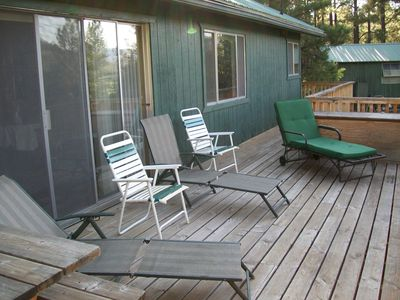 Plenty of Lounge Seating available on the Deck.