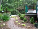 Part of the back yard w/ Gazebo & part of deck - South Haven house vacation rental photo