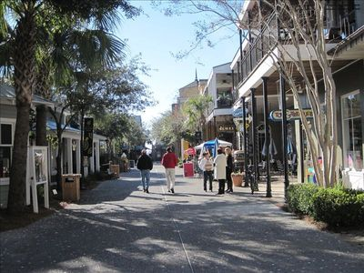 Enjoy the many shops and restaurants at the Baytowne Wharf