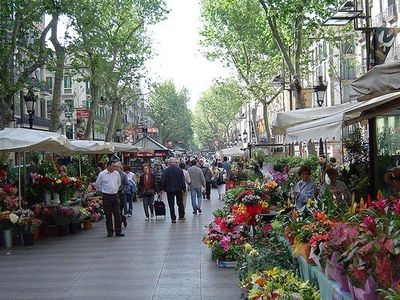 Las Ramblas, facing to the apartment