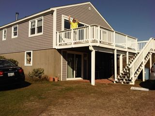 Charlestown house photo - .Beach House Front Deck Views of Block Island and Sunsets