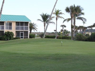 View from condo - overlooking the golf course and with a view of the sand dunes