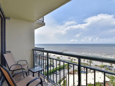 Absolutely stunning views from 2 balconies at The San Luis 1035!