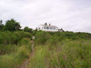 Brewster house photo - View of house from Beach Path