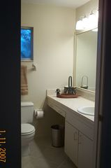 Vero Beach house photo - Master bath, large tiled shower with built in seat, safety bars