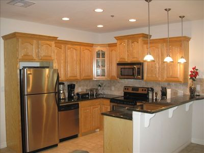 Complete kitchen with stainless steel appliances